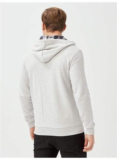 MCL MCL Pamuklu Fermuarlı Sweatshirt Beyaz